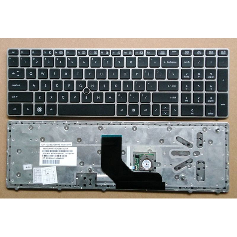 batterie ordinateur portable Laptop Keyboard HP Elitebook 6565B