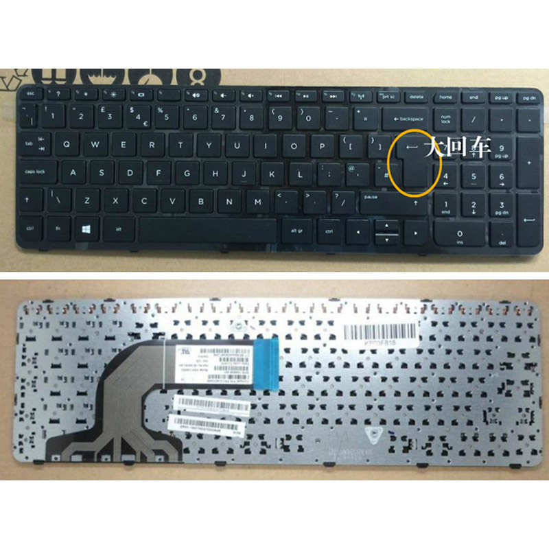 batterie ordinateur portable Laptop Keyboard HP Pavilion 15-e041TX