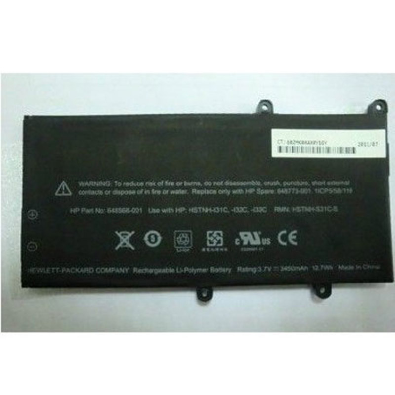 batterie ordinateur portable Laptop Battery HP 648568-001